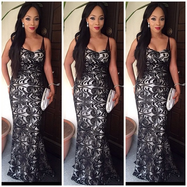 Bridal ceremony Customer Look: Toke Makinwa Turns Heads in Black Detailed Costume