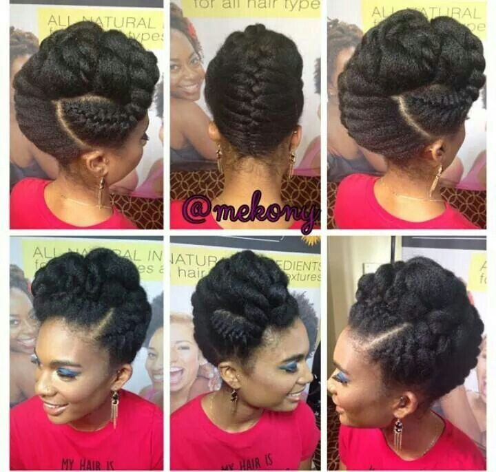 Updo Hairstyles With Bangs For Black Women 104