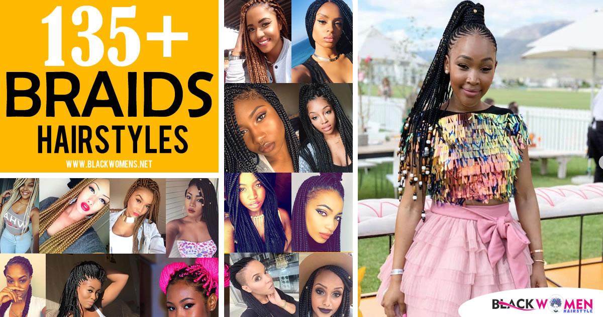 135 Photos: Afro-American Hair Braid Styles Of 2020-2021 – Make Dimensional Braids