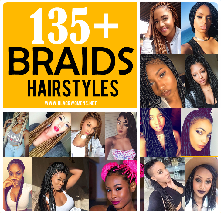 135+ Afro-American hair braid styles of 2019-2020 – make dimensional braids