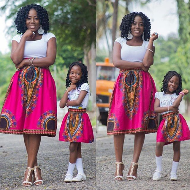 The different Ankara dresses for yourself and your child