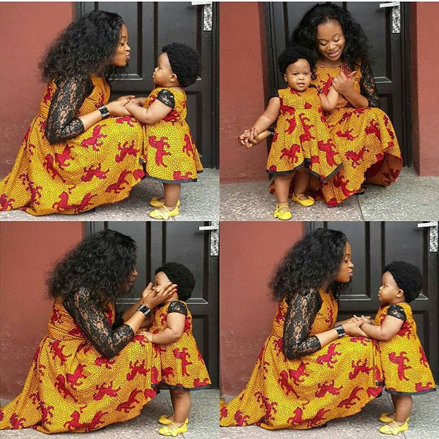 Ankara Styles to glam up Mother and Daughter