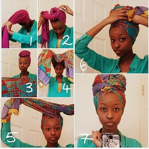 this is how ive always done my head wraps one underneath for volume another for coordination. especially those fuller higher shapes i like to make