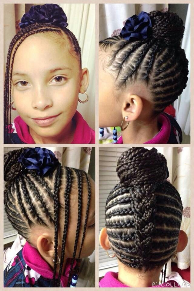 adorable braided style for girls