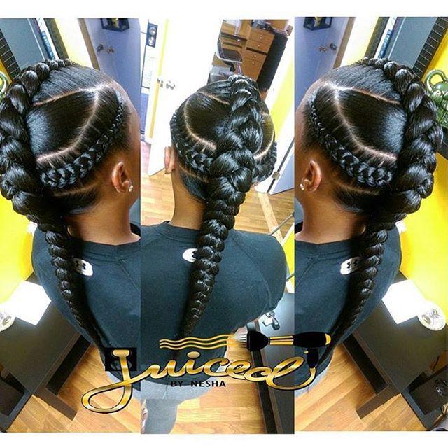 braid.barbie lemonade braids on the beautiful inkedsunshine katiyahdidit protectivestyles braidgang blackgirlmagic sidecornrows