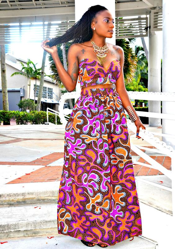 Cache African Print Maxi Set