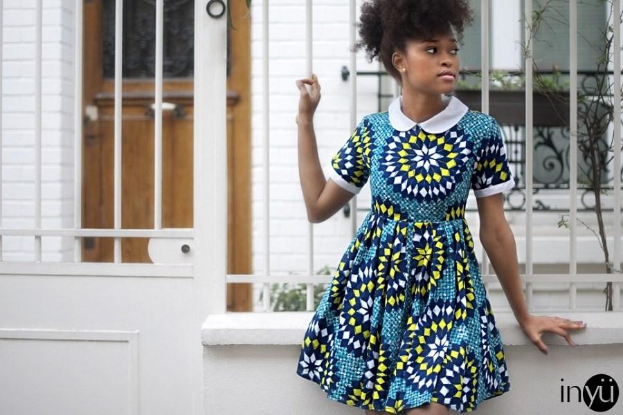 african print dress inyu