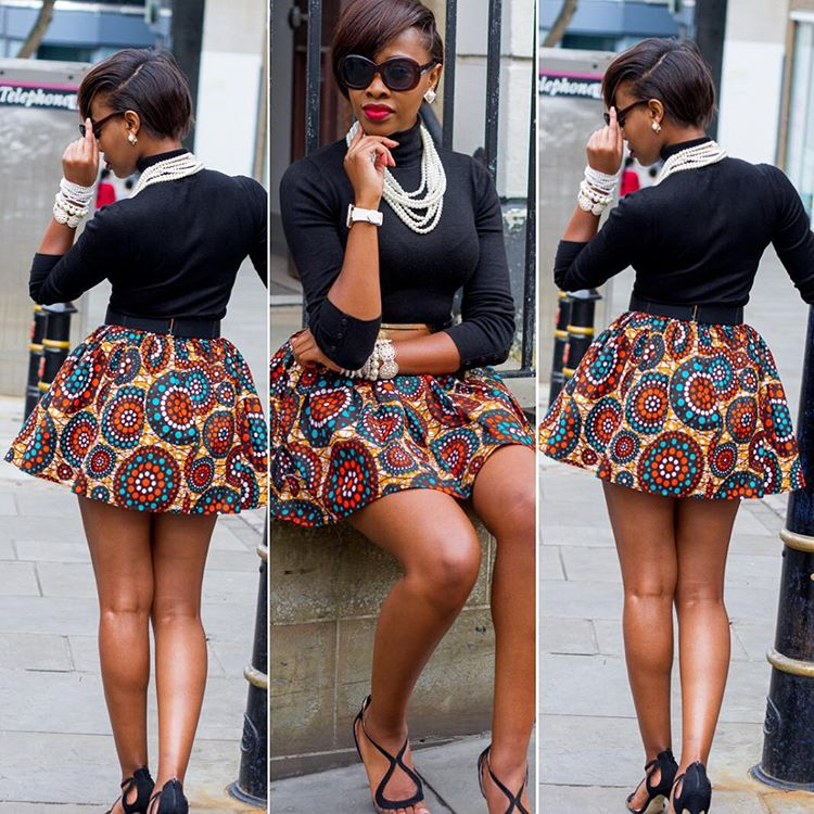 Fashioning your Ankara skirts for all year round