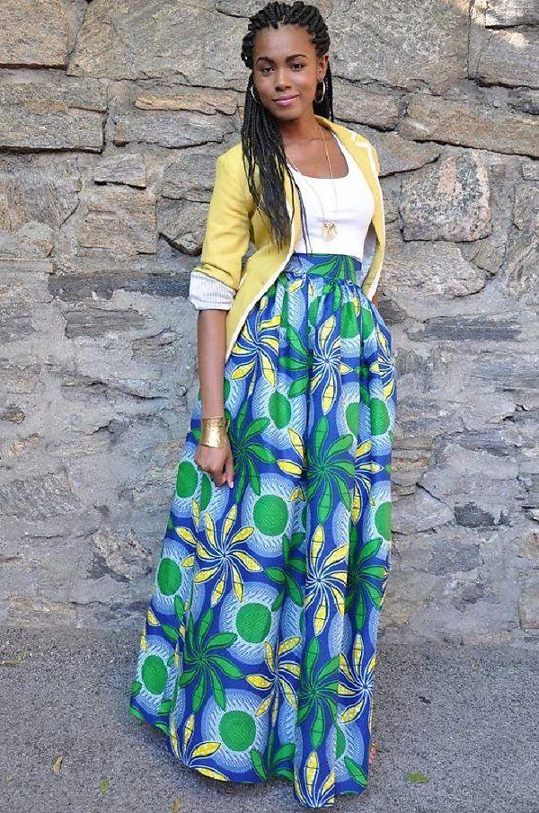 maxi skirt africanprint ankara chenburkettny