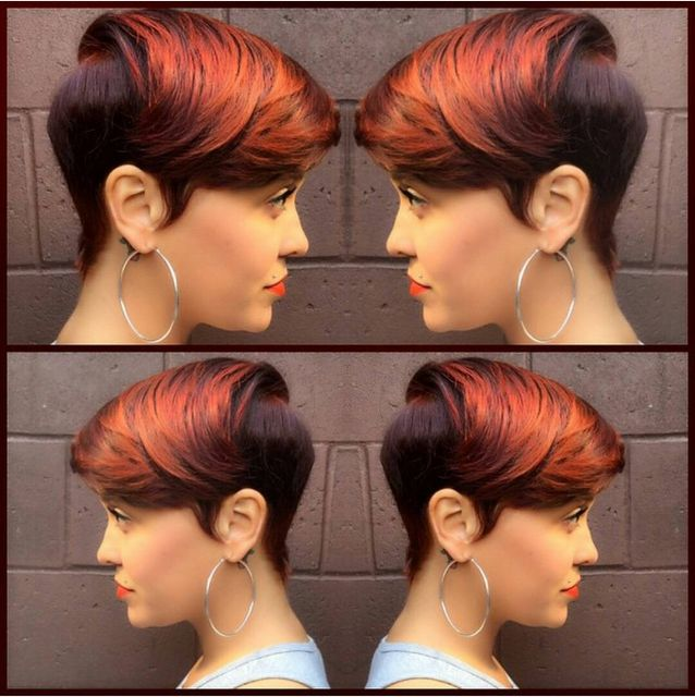 professional natural hairstyles for job work burnt orange short hairstyles for black women