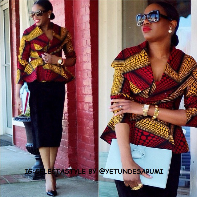 Ankara Wear of blackwomenfashion.com on instagram is a grand choice