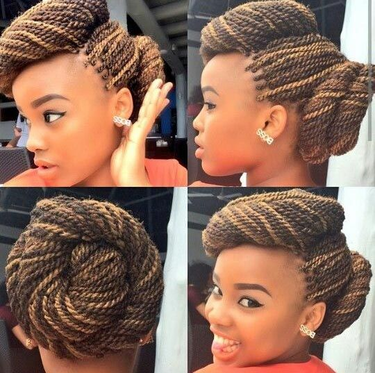 Make the twisted buns nicely to look classy