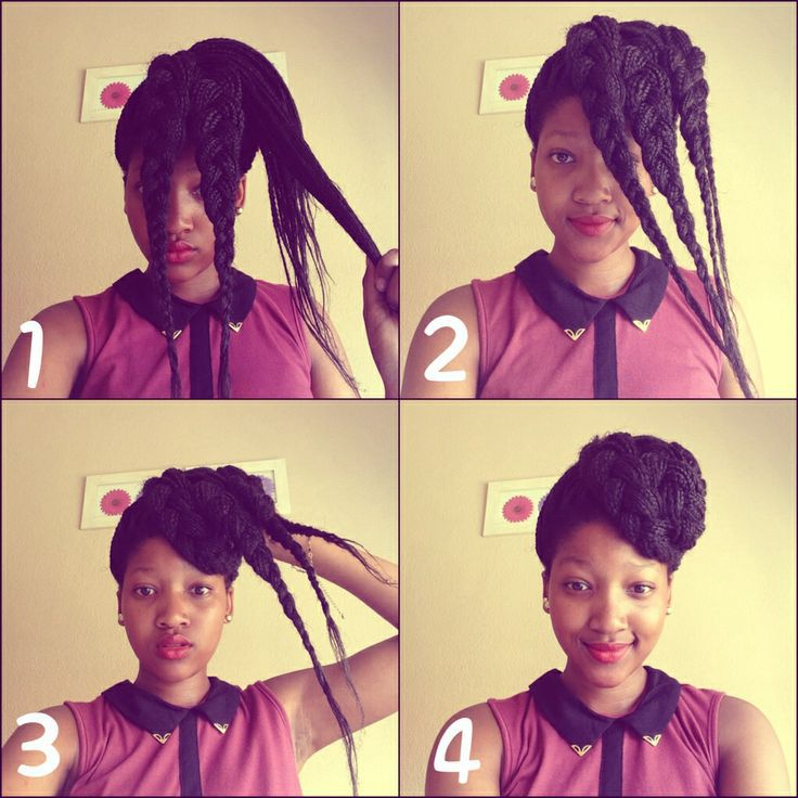 Braided Updo For Box Braids