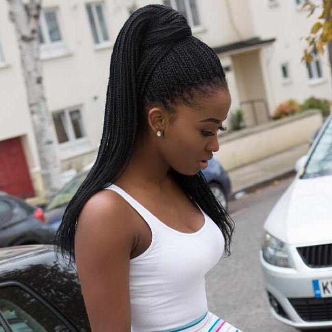 Ponytail For Small Box Braids
