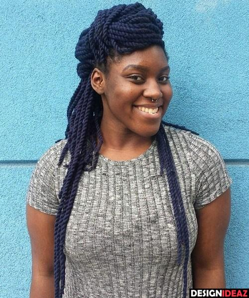 Medium Length Thin Faux Locs