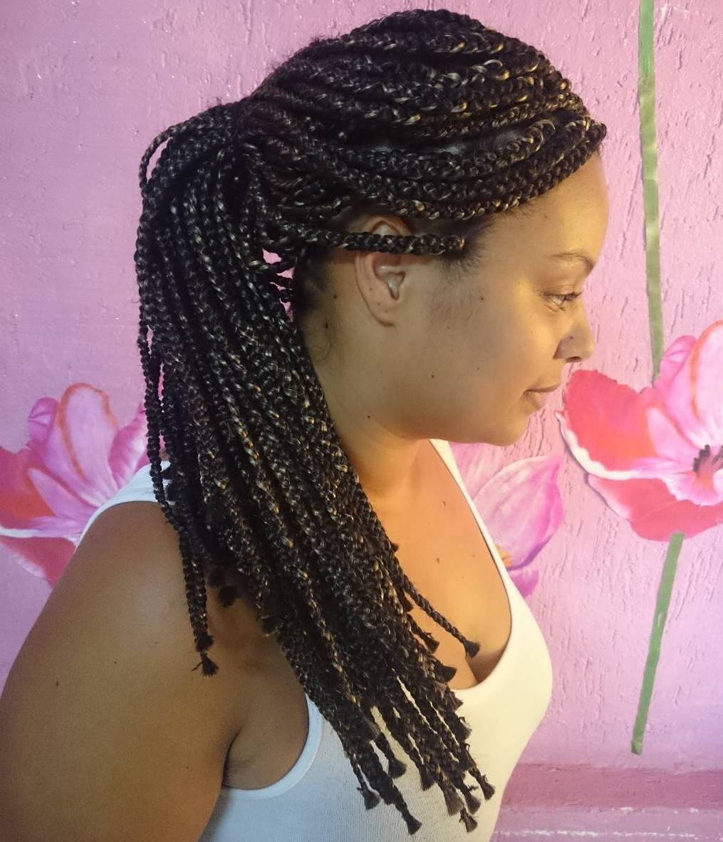 Simple Ponytail For Box Braids