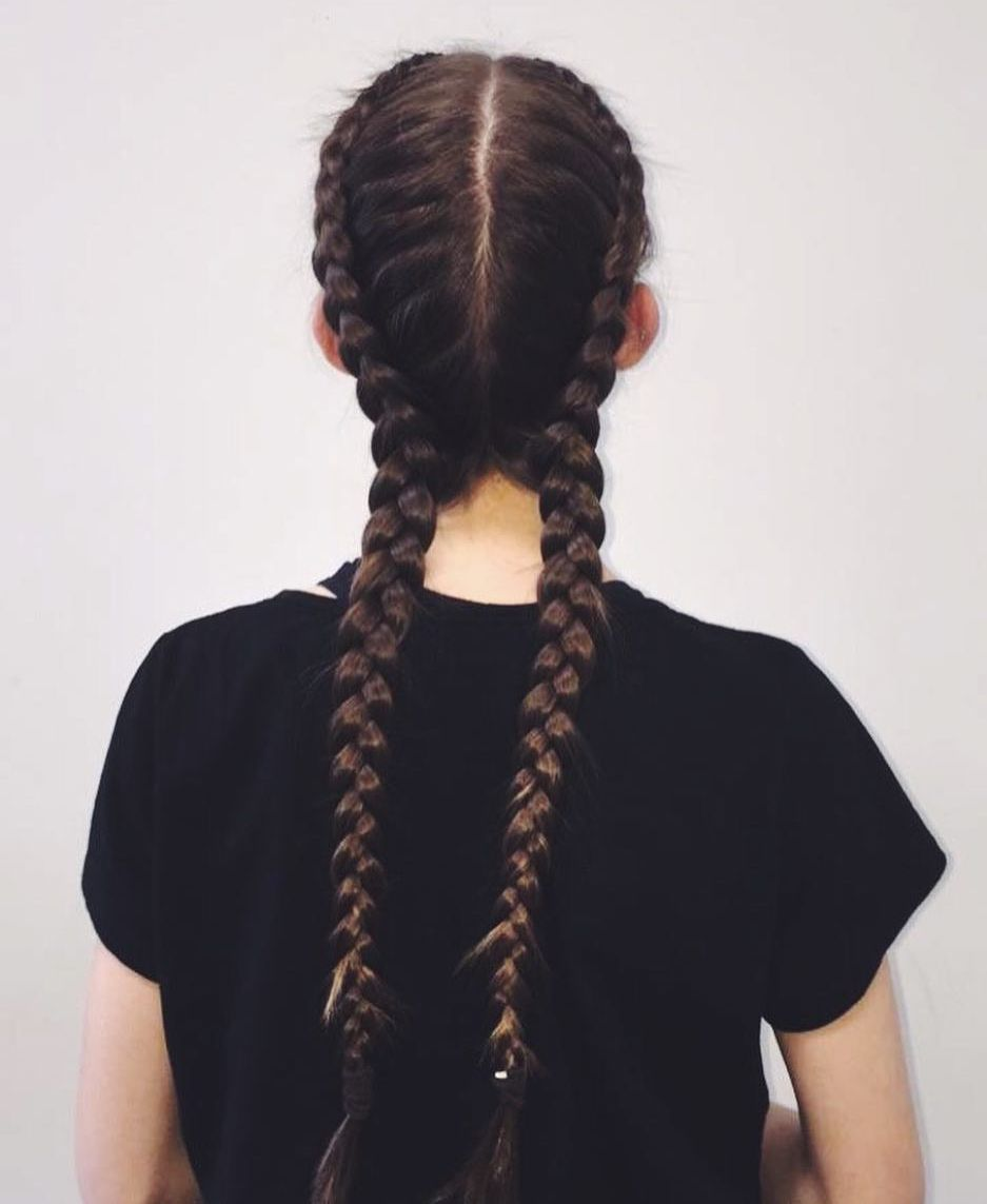 Two Long Dutch Braids