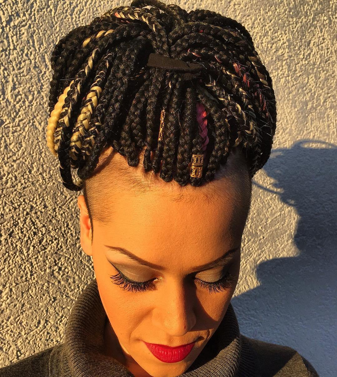 Box Braids With Side Undershaves