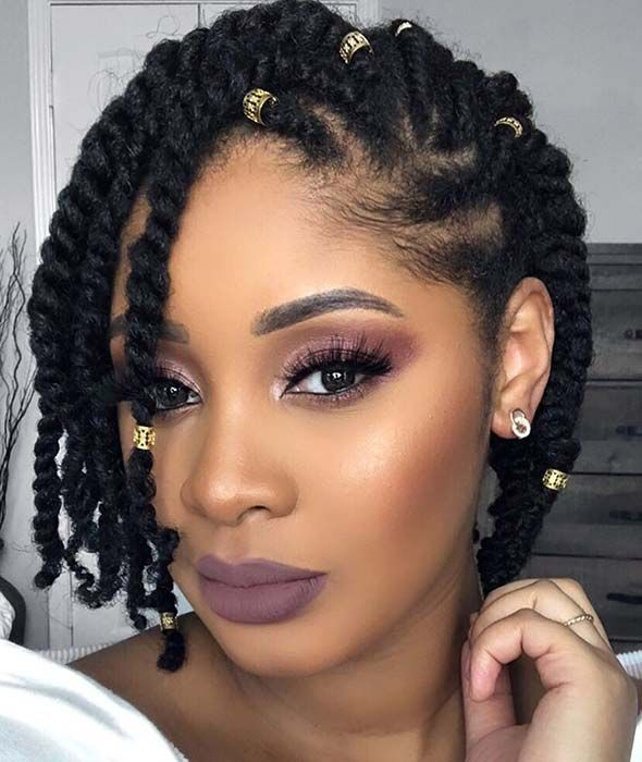 20 Creative Natural Braided Hairstyles For Black Women