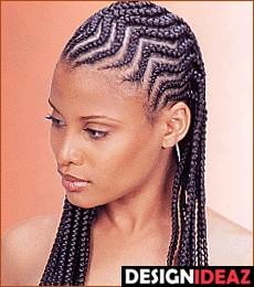 Best Black Zig- Zag African American Braided Hairstyles for Women