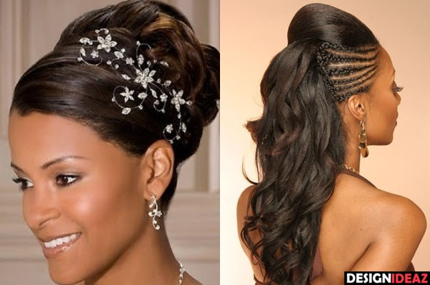 Best Long Black Braided Hairstyles for Brides