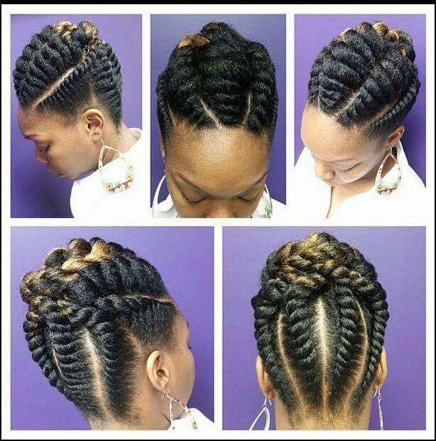 flat twist braids hairstyles 1