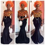 Look Fabulous In Long Aso-Ebi Night Dresses