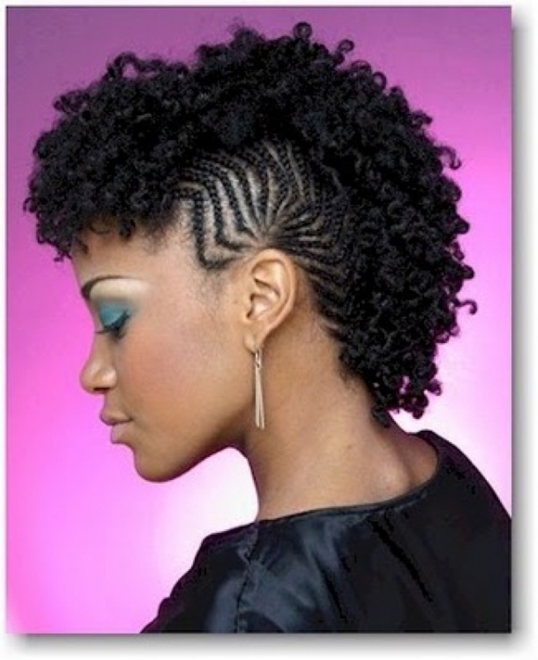 elegant braided fauxhawk for natural hair