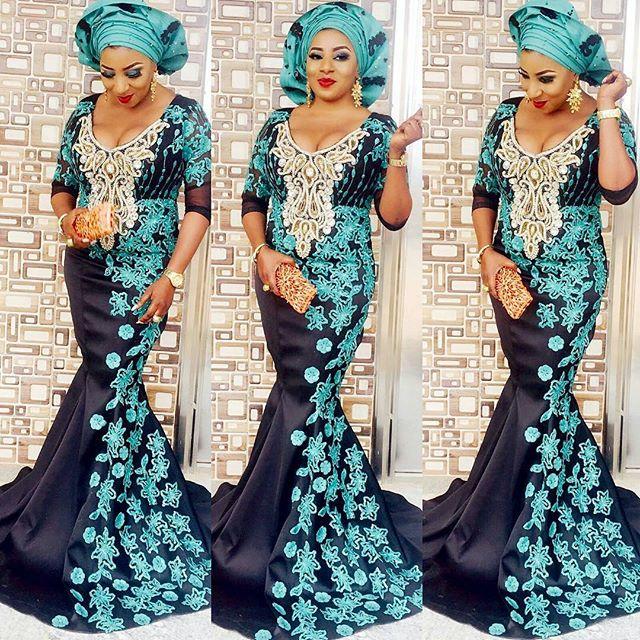 Mide Martins Rocks With Aso-Ebi Stylish Dresses