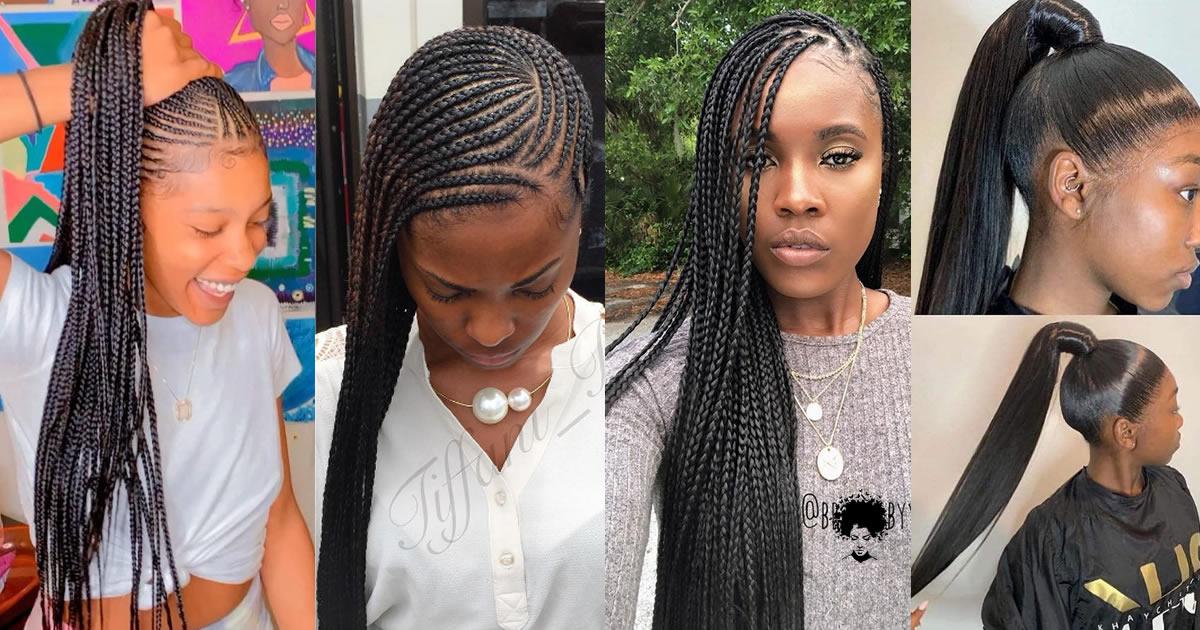 112 Photos: the Best Ghana Hair Braiding Style for College Girls