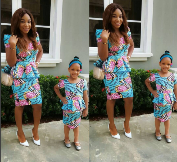 Creative Ankara Skirt and Blouse Style for Mother and Daughter