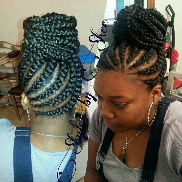 micro braids hairstyles for black women braided hairstyle for black bun braided bun for black women