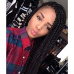 Examples Of Box Hair Braids With No Artificial Hair