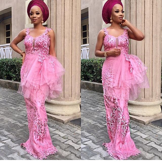 top ten most stylish cord lace aso ebi styles for ladies