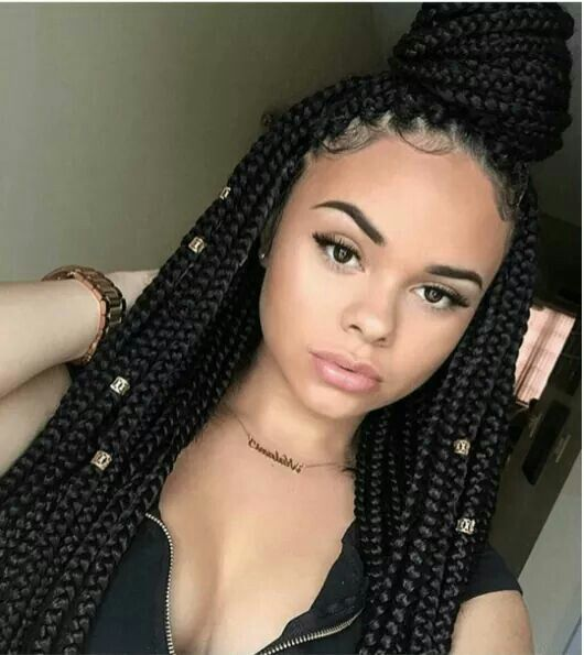 box braided queen...try more box braid styles here http www.naturalhairmag.com 5 quick box braid hair styles ig  therealmami naturalhairmag prot