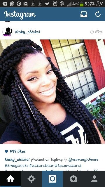 chunky braids protective style for the summer heat
