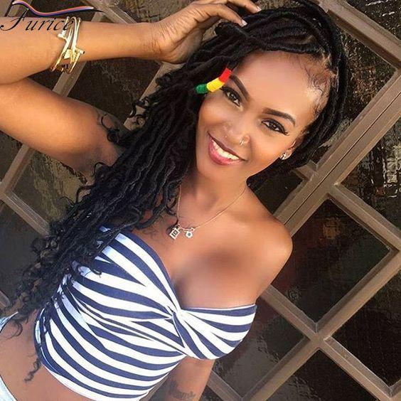havana mambo faux locs braids 24 strands per pack crochet dreadlocks braiding hair extensions crochet dreads twist soft hair