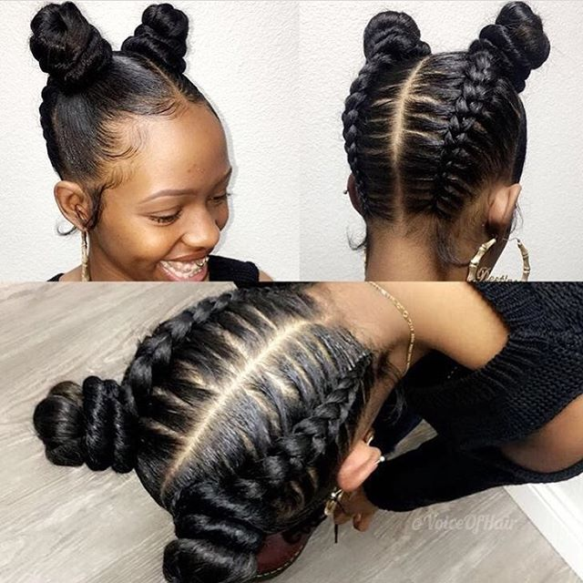 Double Upside Down Buns For Young Ladies