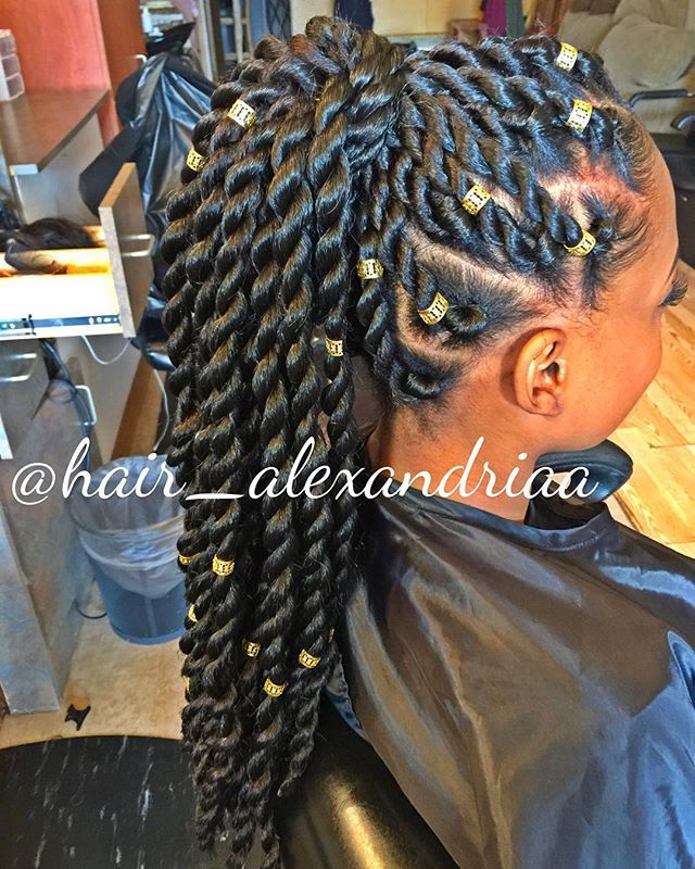 summer hair idea protective hairstyle uniquelyni