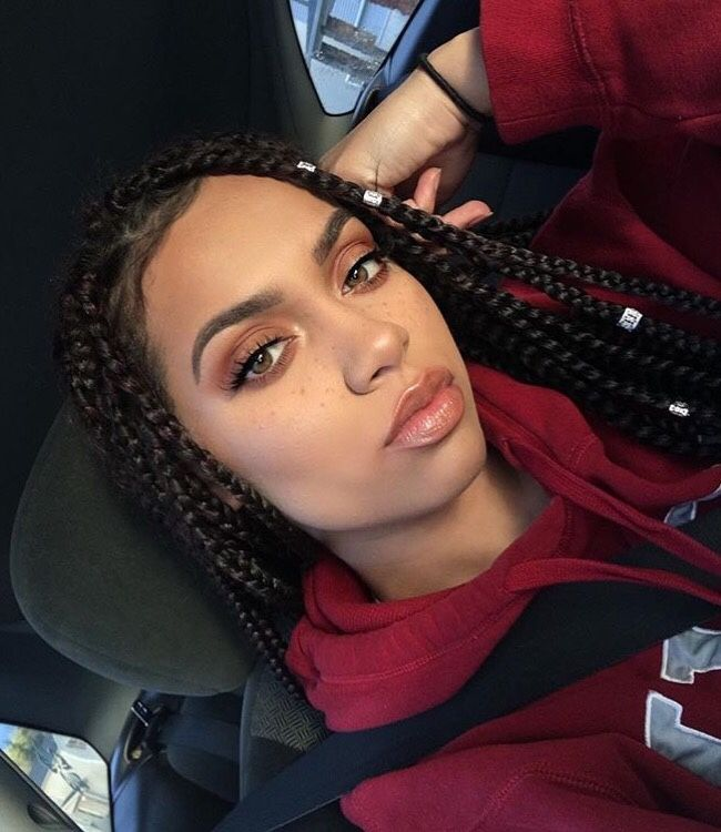 Box Style Hair Braids For Sports Style Lovers