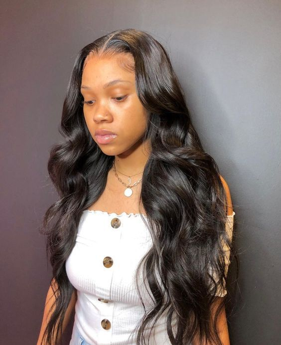 Body Wave Lace Front Human Hair Wigs Brazilian Frontal Wig For Black Women Pre Plucked Free Shipping