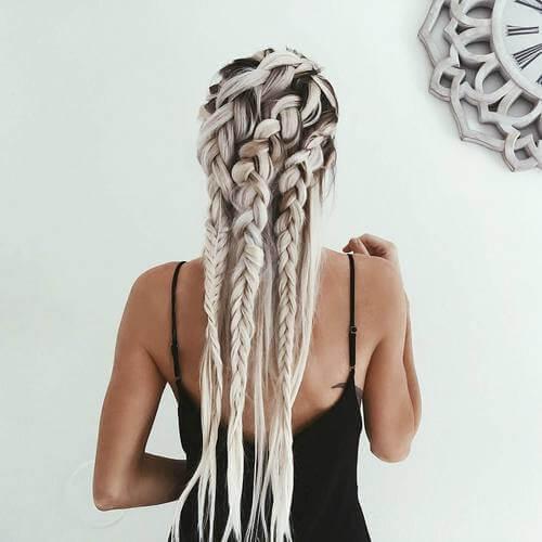 Loose Goddess Braids on Natural Hair