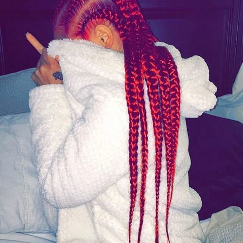 Red Goddess Braids Style