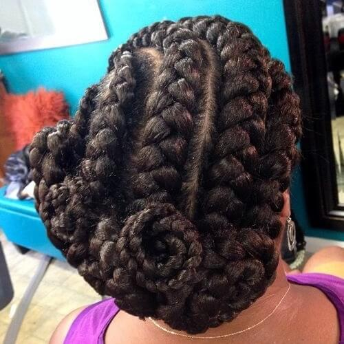 Twisted and Curled Low Bun