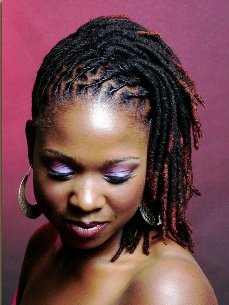 Natural looking black hair dreadlocks