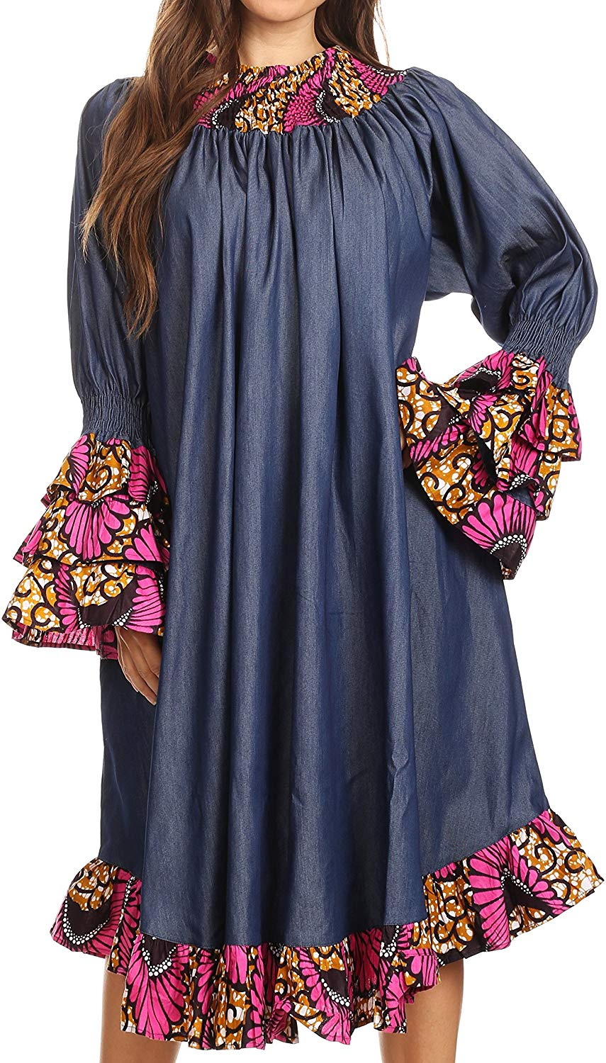 1582541488 874 Top 20 Stylish African Print Dresses Latest Styles For The Beautiful Ladies
