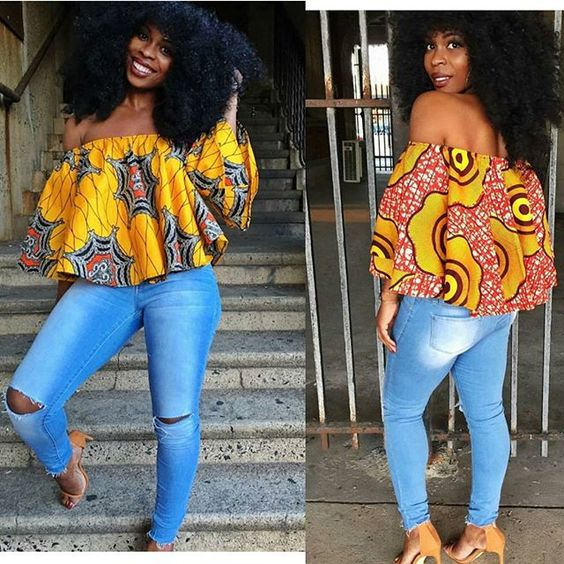 1582543084 137 Best Ankara Tops On Jeans For Stars