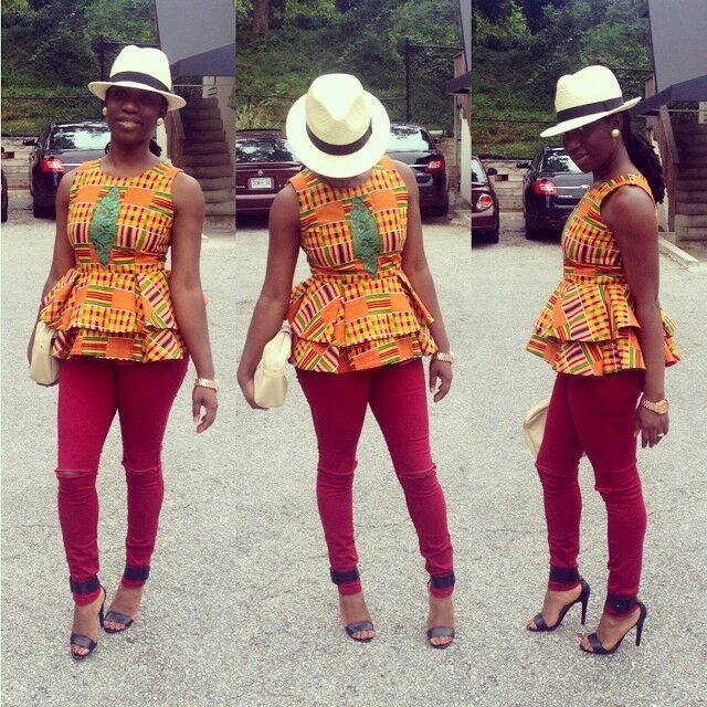 1582543085 939 Best Ankara Tops On Jeans For Stars