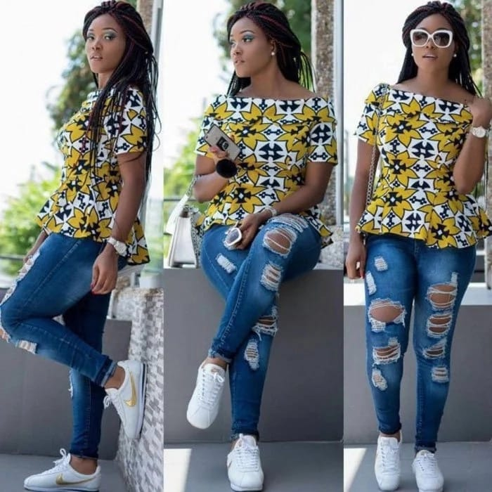 1582543086 937 Best Ankara Tops On Jeans For Stars