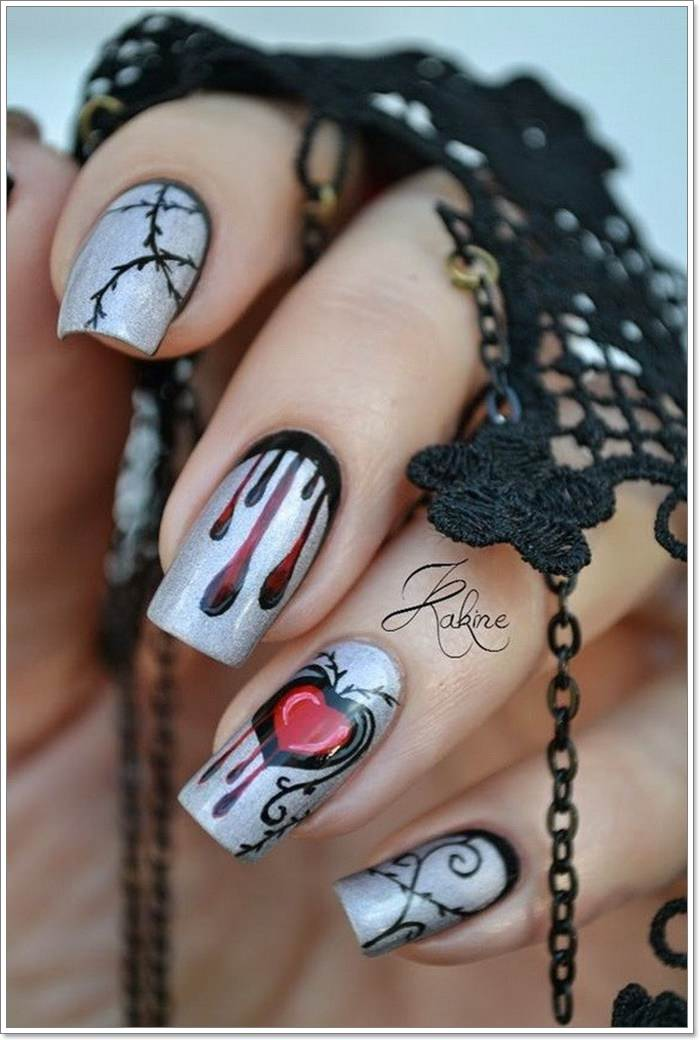 1582543771 369 105 Glitzy Halloween Nails to Rock Your Party Looks